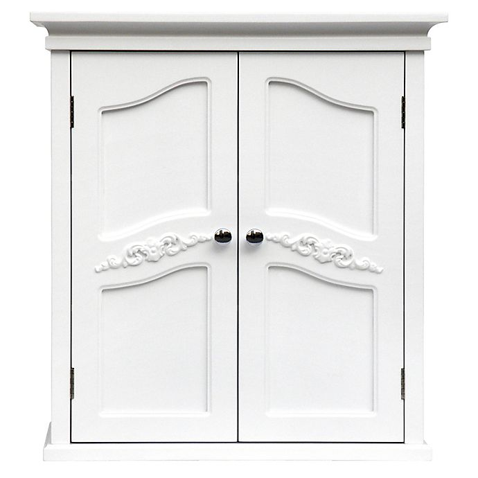 Alternate image 1 for Elegant Home Fashions Versailles 2-Door Wall Cabinet in White