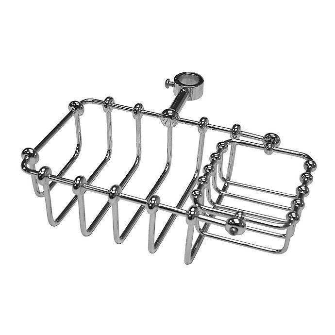 Alternate image 1 for Kingston Brass Tub Riser Mount Bathtub Caddy in Chrome