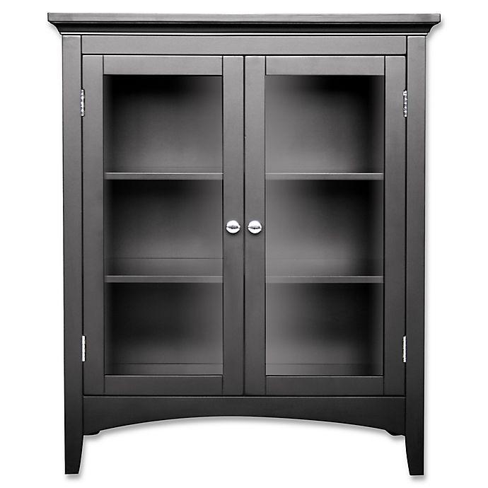Alternate image 1 for Helen 2-Door Bath Floor Cabinet in Dark Espresso