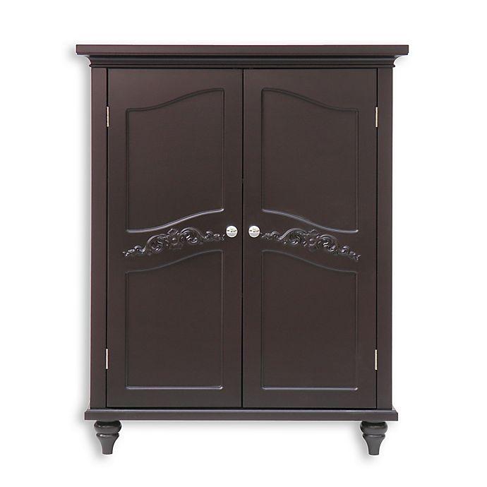 Alternate image 1 for Elegant Home Fashions Versailles 2-Door Floor Cabinet in Dark Espresso