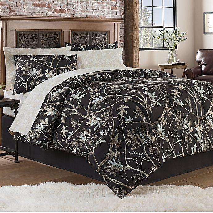 Alternate image 1 for Hidden Retreat Travis 8-Piece Full Comforter Set in Black