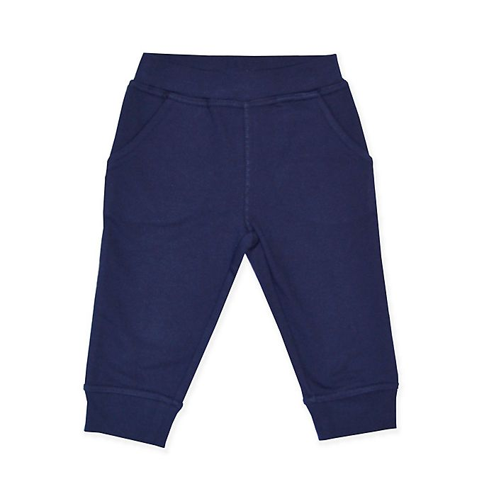 Alternate image 1 for Kidtopia French Terry Jogger Pant in Navy