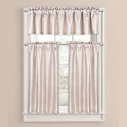Colordrift Celina Metallic Bathroom Window Curtain and Valance Collection