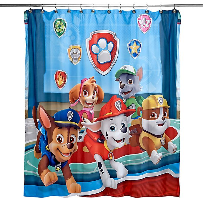 Paw Patrol Best Pup Pals Shower Curtain