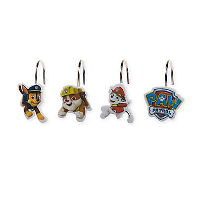 Paw Patrol Best Pup Pals Shower Curtain Hooks (Set of 12)