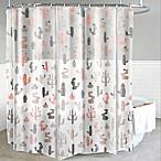 Mojave PEVA Shower Curtain in Blush