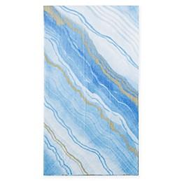Caspari 12-Count Marble Paper Guest Towel Napkin in Blue