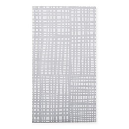 Caspari 12-Count Raffine Paper Guest Towel Napkin in Silver