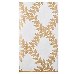 Caspari 15-Count Acanthus Trellis Paper Guest Towel Napkin in Ivory/Gold