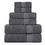 Grund Pinehurst 6-Piece Turkish Organic Cotton Towel Set in Slate Grey