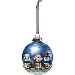 Precious Moments® Caroling Penguins Christmas Ornament in Blue