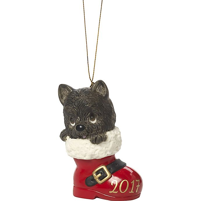 Alternate image 1 for Precious Moments® Medium Have a Pawsitively Soleful Christmas Ornament in Red
