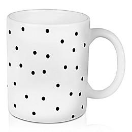 Designs Direct Black Polka Dot 11 oz. Coffee Mug in White