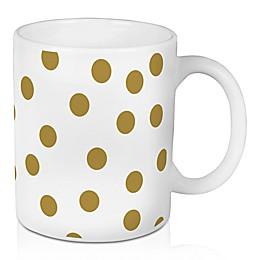Designs Direct Gold Pops 11 oz. Coffee Mug in White