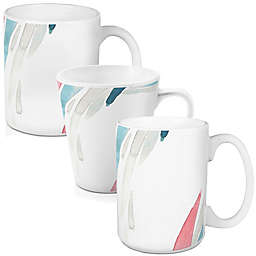 Designs Direct Watercolor Brush Strokes Mug Collection in Blue