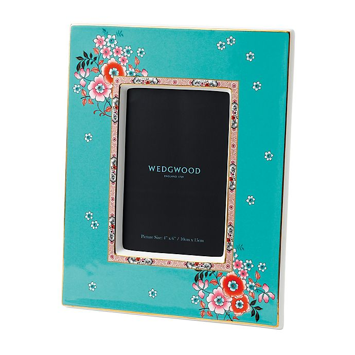 Alternate image 1 for Wedgwood® Wonderlust Camellia 4-Inch x 6-Inch Picture Frame
