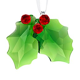 Swarovski® Holly Christmas Ornament