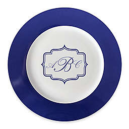 93 West Maison Rimmed Charger Plate in White/Blue Frame
