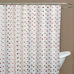 Dazzle Shower Curtain In Rose Gold