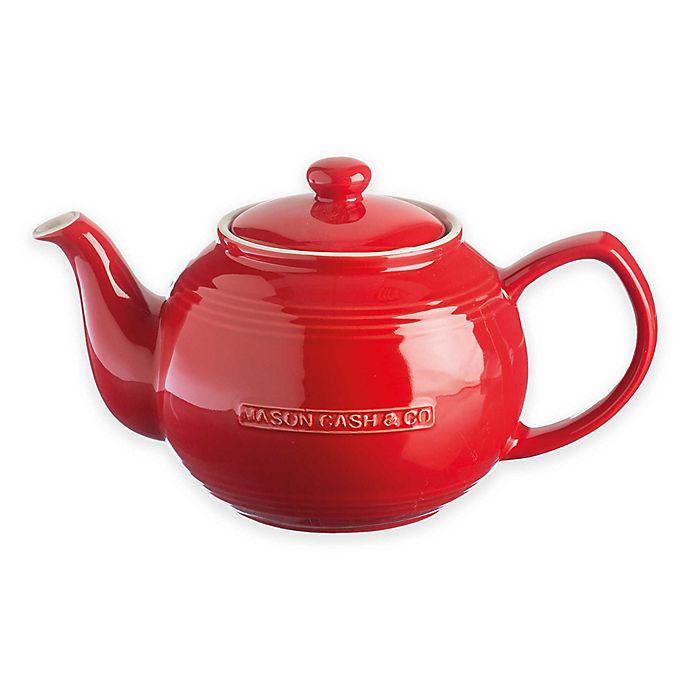 Alternate image 1 for Mason Cash® Ceramic Teapot and Infuser