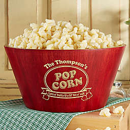 Popcorn Night Bamboo Serving Bowl