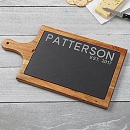 Rustic Family Slate and Wood Paddle Board