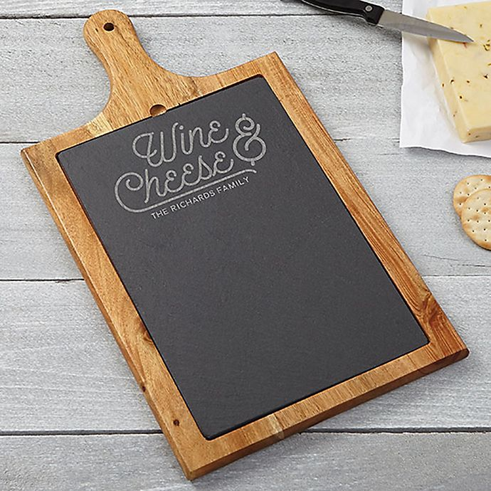 Wine And Cheese Slate And Wood Paddle Board Bed Bath Beyond