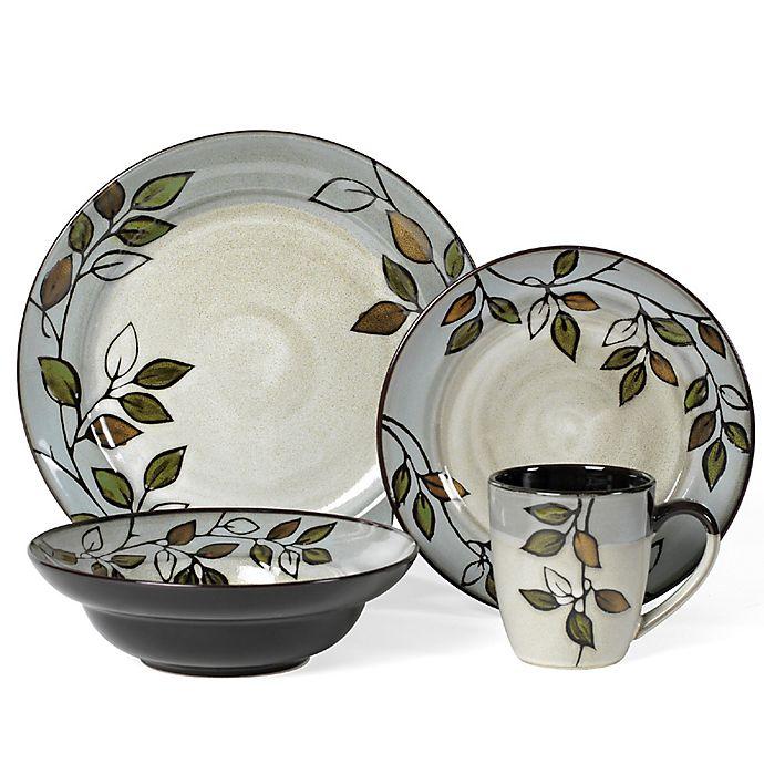 Alternate image 1 for Pfaltzgraff® Rustic Leaves 16-Piece Dinnerware Set
