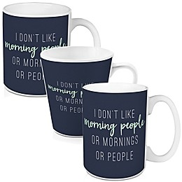 """Designs Direct """"No Mornings or People""""  Mug in Blue Collection"""