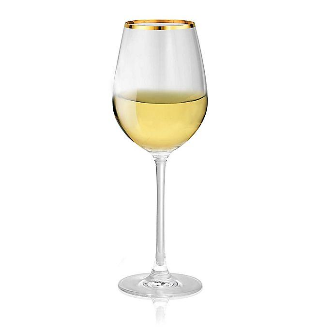 Alternate image 1 for Artland® Gold Band White Wine Glasses (Set of 4)
