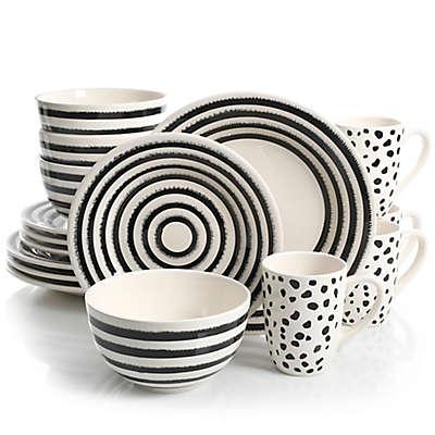 Laurie Gates Naivete 16-Piece Dinnerware Set