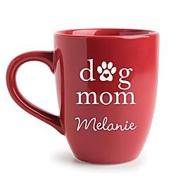 """Dog Mom"" Mug in Red"