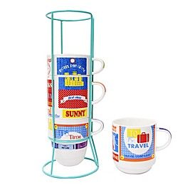 Multiple Choice® 5-Piece One Way Ticket Stackable Mug Set