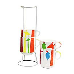 Multiple Choice® 5-Piece La Giraffe et Ballon Stackable Mug Set