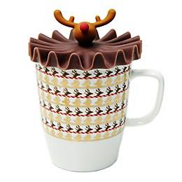 Multiple Choice® Mr. Antlerton Stripe Boo 2-Piece Mug and Lid Set