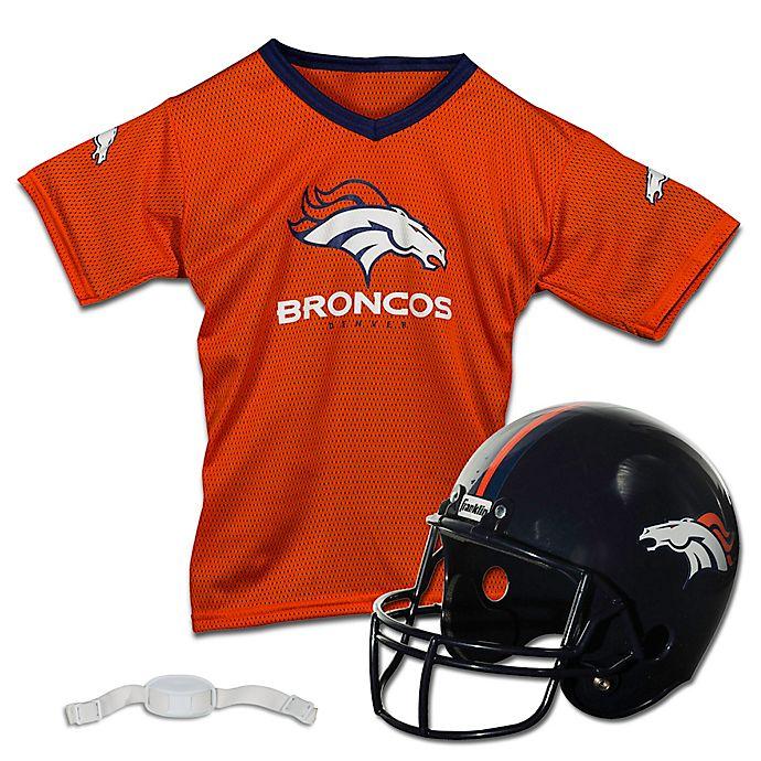 b4ff7b28 NFL Denver Broncos Kids Helmet/Jersey Set | Bed Bath & Beyond