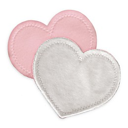 bamboobies® Regular 2-Pair Pack Washable Nursing Pads in Light Pink