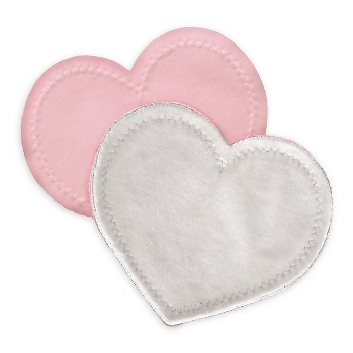 Alternate image 1 for bamboobies® Regular 2-Pair Pack Washable Nursing Pads in Light Pink
