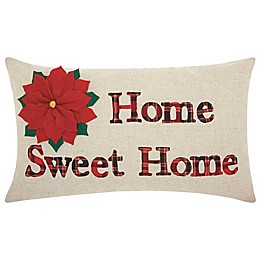 Mina Victory Holiday Home Sweet Home Oblong Throw Pillow in Natural