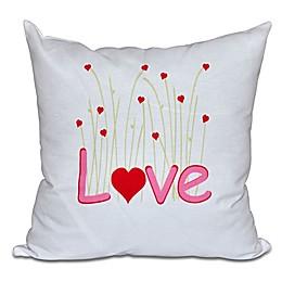 Valentine Square Throw Pillow in Fuchsia