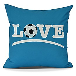 Love Soccer Square Throw Pillow