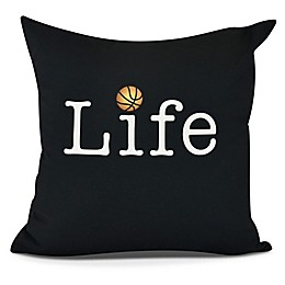 Life and Basketball Square Throw Pillow
