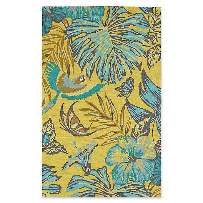 Alternate image 1 for Kaleen Yunque Amazon 5-Foot x 7-Foot 6-Inch Indoor/Outdoor Area Rug in Yellow