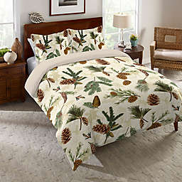 Laural Home® Pinecone Duvet Cover
