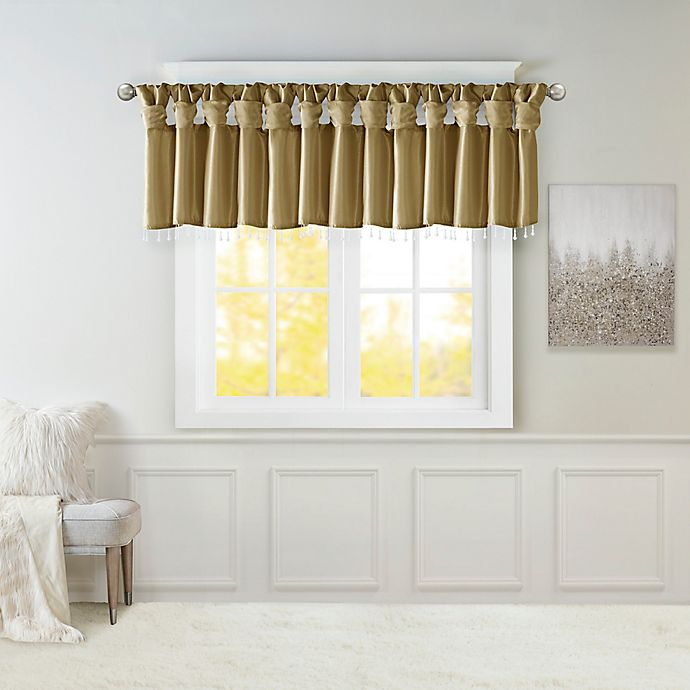 Alternate image 1 for Madison Park Emilia Twisted Tab Room Darkening Window Valance