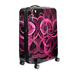 ful® Atomic 24-Inch Hardside Spinner Checked Luggage in Pink