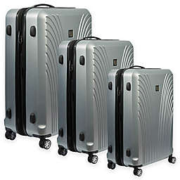 ful® Curve Geo Hardside Spinner Suitcase in Silver
