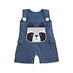 Baby Aspen Forest Friends Size 0-6M Raccoon Romper in Blue