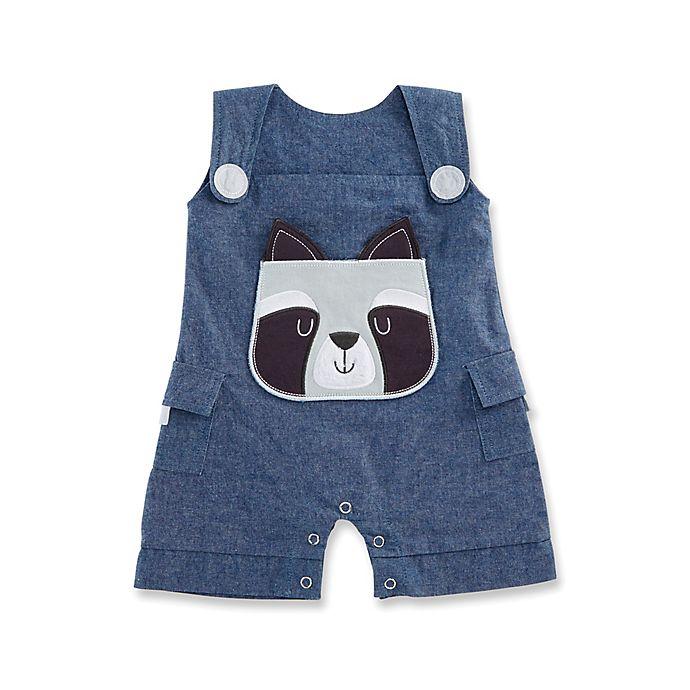 5e1237f7ee47 Baby Aspen Forest Friends Size 0-6M Raccoon Romper in Blue