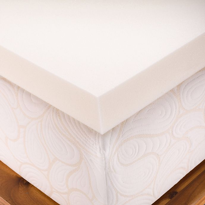 Alternate image 1 for Authentic Comfort Dorm 4-Inch Memory Foam Full Mattress Topper